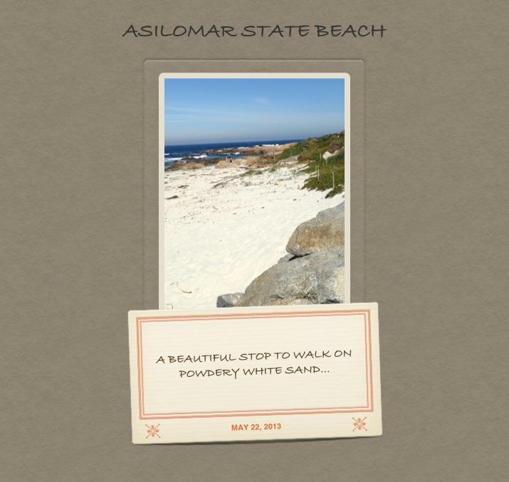 Asilomar Beach Postcard