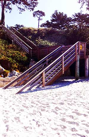Carmel Beach Steps