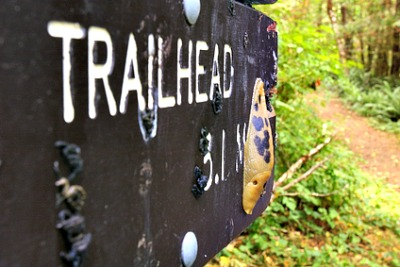 Jacks Peak Trailhead Sign