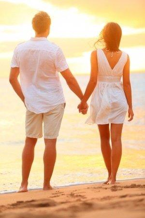Honeymooners at the Beach